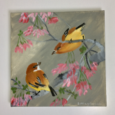 Love Birds  Acrylic Painting
