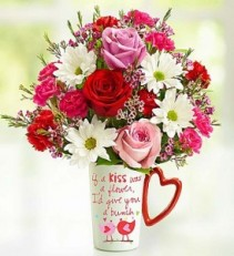 Love Birds...If a Kiss was a Flower I'd Send You a Bunch, collectible mug