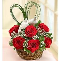 Love Birds Nest of Roses