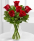 Love Bouquet Red Roses Vased