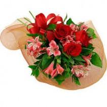Love Bouquet Seasonal Fresh Flowers Wrapped