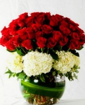 Extreme Love!! Loaded for a Queen! Roses and Hydrangeas~ Very Large Centerpiece!!
