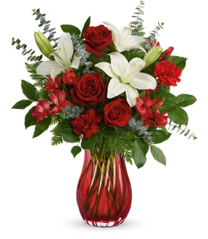 Love Conquers All All-Around Floral Arrangement in Winnipeg, MB | KINGS FLORIST LTD