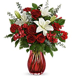 Love Conquers All Bouquet Fresh Arrangement