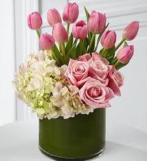 Love Everlasting hydrangea, tulips & roses