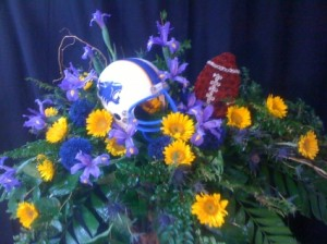 Love for the Game Casket Spray in Spring, TX | TOWNE FLOWERS