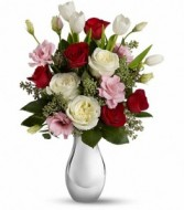 Love Forever Bouquet Keepsake Container Arrangement