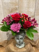 Picture of Elegance floral arrangement in cement planter