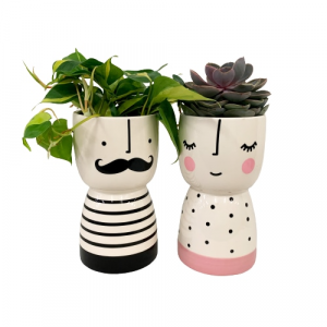 Love Grows Duo Planter in Mount Pearl, NL | MOUNT PEARL FLORIST