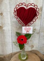 Love Grows Here Vase Arrangement with Card Holder