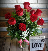 Love Icon Metal Wall Art & Roses Valentine's Day Special
