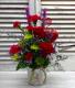 Charismatic Crimson Floral Arrangement