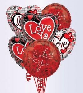Love  in The Air Mylar Balloon Bokay