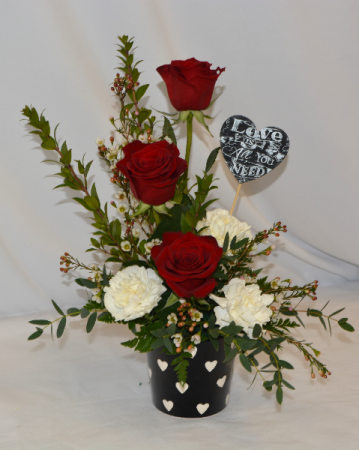 LOVE IS ALL YOU NEED FRESH FLOWER ARRANGEMENT