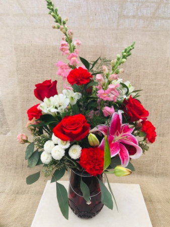 Love is Grand Fresh Vase Arrangement