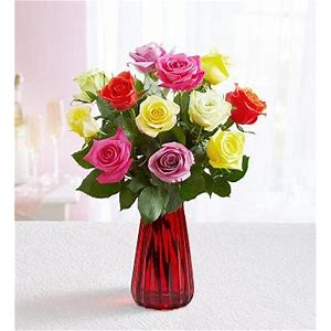 Love is in bloom Multi-colored rose bouquet
