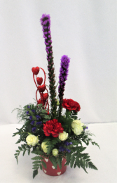 LOVE IS IN THE AIR FRESH FLOWER ARRANGEMENT - LIMITED QTY