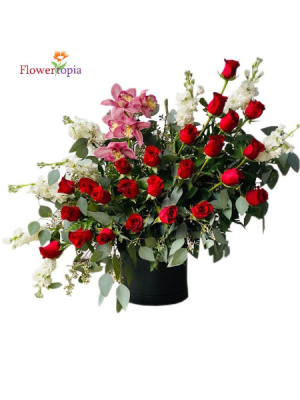 Love is in the Air/ OUT OF STOCK NEW!! Valentine's Flower Arrangement in Miami, FL | FLOWERTOPIA