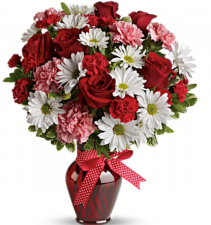 Love Is In The Air Rose Mixed Flower Bouquet Roses with Mixed Flowers
