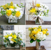 Designer's Choice Yellow and White Bouquet