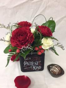 Love Is Patient Love Is Kind Floral Arrangement