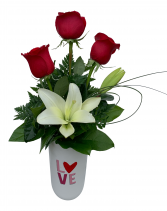 Love is Patient, Love is Kind Valentine Arrangement