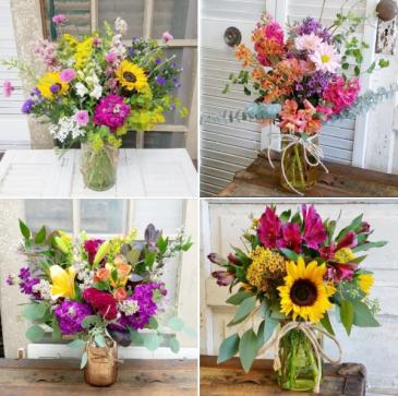 Designer's Choice Mason Jar Bouquet