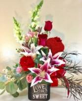 LOVE IS SWEET  Arrangement of Flowers
