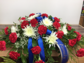 Love lives on Casket arrangement
