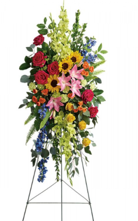 Love Lives on Standing Spray Standing Spray in Chesapeake, VA | Floral Creations