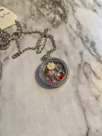 Love Locket  Floating locket  with charms included