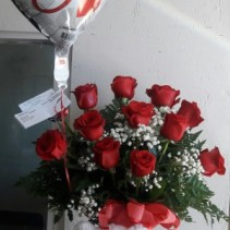 Love Love Love  Roses teddy bear And ballon