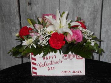 Love Mail Valentine arrangement