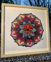 Love Mandala Hand Painted Original Framed