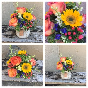 """Golden Slumbers"" Vased Arrangment in Auburn, AL 