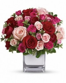 Love Medley Bouquet with Red Roses ---