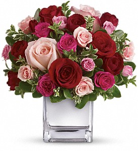 Love Medley Bouquet With Red Roses (CONTAINER MAY VARY)