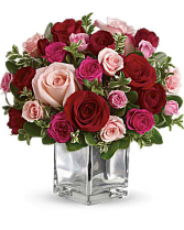 LOVE MEDLEY CUBE CENTERPIECE