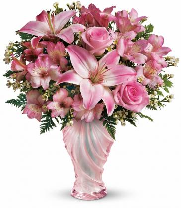 Love Mom Bouquet One-Sided Floral Arrangement