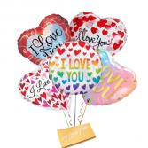 Love-Mylar Balloons with DeBrand chocolate bar