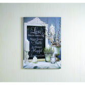 Love Never Ends  Lighted Canvas
