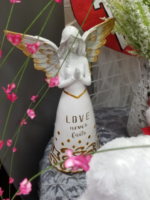 Love Never Fails Angel (or Substitution) Resin Angel figurine
