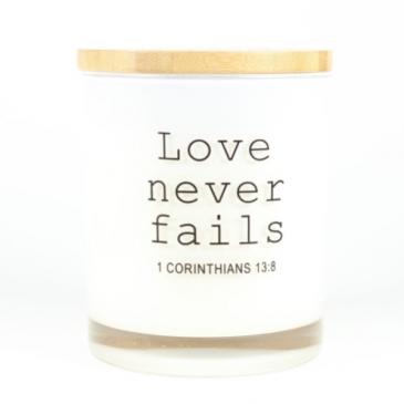 Love Never Fails Candle