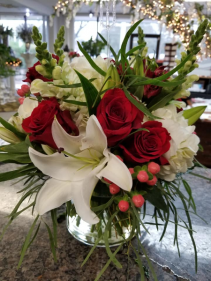 Love Never Fails Hand Tied Design in a Vase