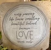 Love Never Fails Stone Giftware
