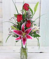 Love Note Vase Fresh Arrangment
