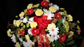Love of bright colors casket spray