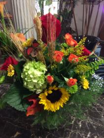 Love of fall Vase arrangement