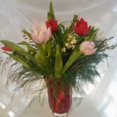 Love of Mine Tulips Mixed Tulip Vase Arrangement