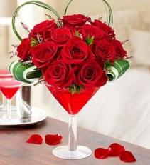 Love Potion Martini Floral Arrangment
